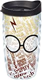 Tervis Harry Potter - Glasses and Scar Tumbler with Wrap and Black Lid 10oz Wavy, Clear