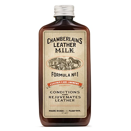 Chamberlain's Leather Milk - Leather Care Liniment Nr. 1 - Leder-Conditioner - Naturbasis/ungiftig - 1 Auftragepad 2 Größen - 0.18 L