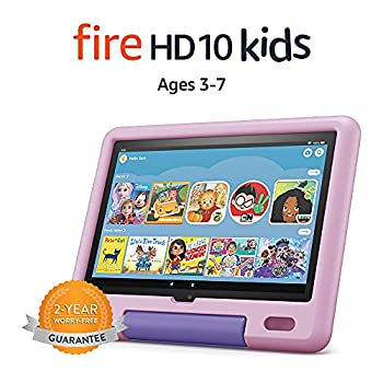 All-new Fire HD 10 Kids tablet 10.1  1080p Full HD ages 3–7 32 GB Lavender