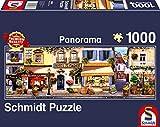 Schmidt Spiele- Puzzle panorámico de 1000 Piezas, diseño de Paseo por París, Color carbón (58383)