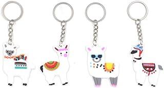 Amosfun 12Pcs Portachiavi Alpaca Fumetto Decorativo Animale Portachiavi Ornamento Portachiavi Regalo per La Famiglia di Amici