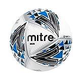 Mitre Delta Professionnel Ballon de football Mixte Adulte, Blanc/Noir/Bleu, Taille 5