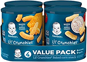 Gerber Graduates Lil Crunchies, Cheddar and Veggie Dip, 1.48 Ounce, 4 Count