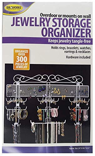 Jobar Organizing Jewelry Valet coated wire White 145quotH x 2375quotW x 2375quotD