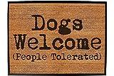 123t dogs welcome people tolerated - Funny Doormat Floor Mat Matt