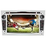 AWESAFE 2-DIN Autoradio mit Navi für Opel, 7 Zoll Touchscreen Radio unterstützt Lenkrad Bedienung USB SD RDS Bluetooth - Silber