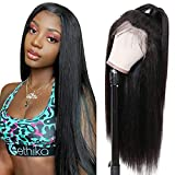 Ur Beautiful Straight Human Hair Lace Front Wig Brazilian Human Hair Wigs 13x4 Cabello Humano Lace Front Peluca Straight Hair Lace Wigs For Black Women 150% Density Straight Wigs Natural Color 8 Inch