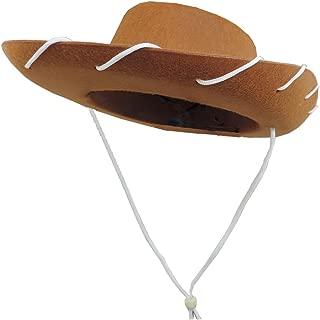 Children's Western Woody Style Kids Cowboy Ranch Hat Brown