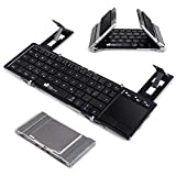Faltbare Bluetooth Tastatur, EC Technology QWERTZ Layout Klein Faltbar Keyboard, Mini...