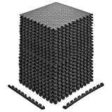 papababe Puzzle Exercise Mat with EVA Foam Interlocking Tiles for MMA Exercise, Gymnastics and Home Gym Protective Flooring, 3/4'' Thick, 96 Square Feet