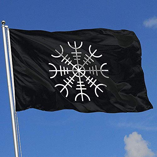 Not Applicable Family Flag,Viking Symbol Nordic Compass Polyester-Flaggen-Fahnen Für Hauptfeiertags-Dekoration 90cmx150cm