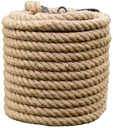 Cuerdas, Yute cuerda gruesa cuerda fuerte cáñamo, sisal, de artesanía, Muelle, Paisaje decorativo, Escalada, columpio que cuelga de árbol, jardinería, remolcador de la cuerda Guerra,10m,22MM