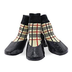 psmgoods® antidérapant pour chien Pet chiot Chaussettes de sport bottes chaussures pour chien antidérapant semelle en caoutchouc de protection imperméable en treillis