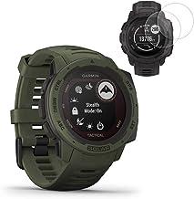 Garmin Instinct Solar Smartwatch Tactical Edition (010-02293-14) w / 2X محافظ صفحه
