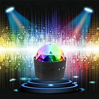 USDWRM Disco-Lichter Wireless Disco Ball Lights Battery Operated Sound Activated LED Party Strobe Light Mini Portable RGB ...