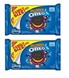 Oreo Halloween Chocolate Sandwich Cookies, Family Size 20 Ounce Package (pack of 2)