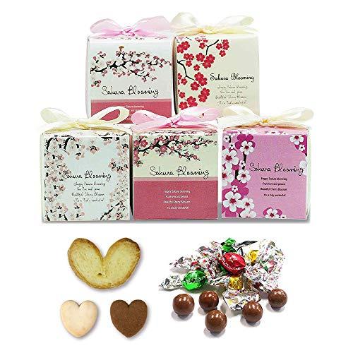 プチギフト 退職 お礼 お菓子 ありがとう おしゃれ『SAKURA さくらグルメ K(チョコ&クッキー&パイ)』ホワイトデーばらまき用 大量 個包装 会社 職場 業務用(15個セット)