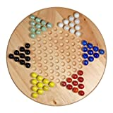 """Best Chinese Checkers Game Sets - Solid Wood 11.5"""" Chinese Checkers Set with Glass Review"""