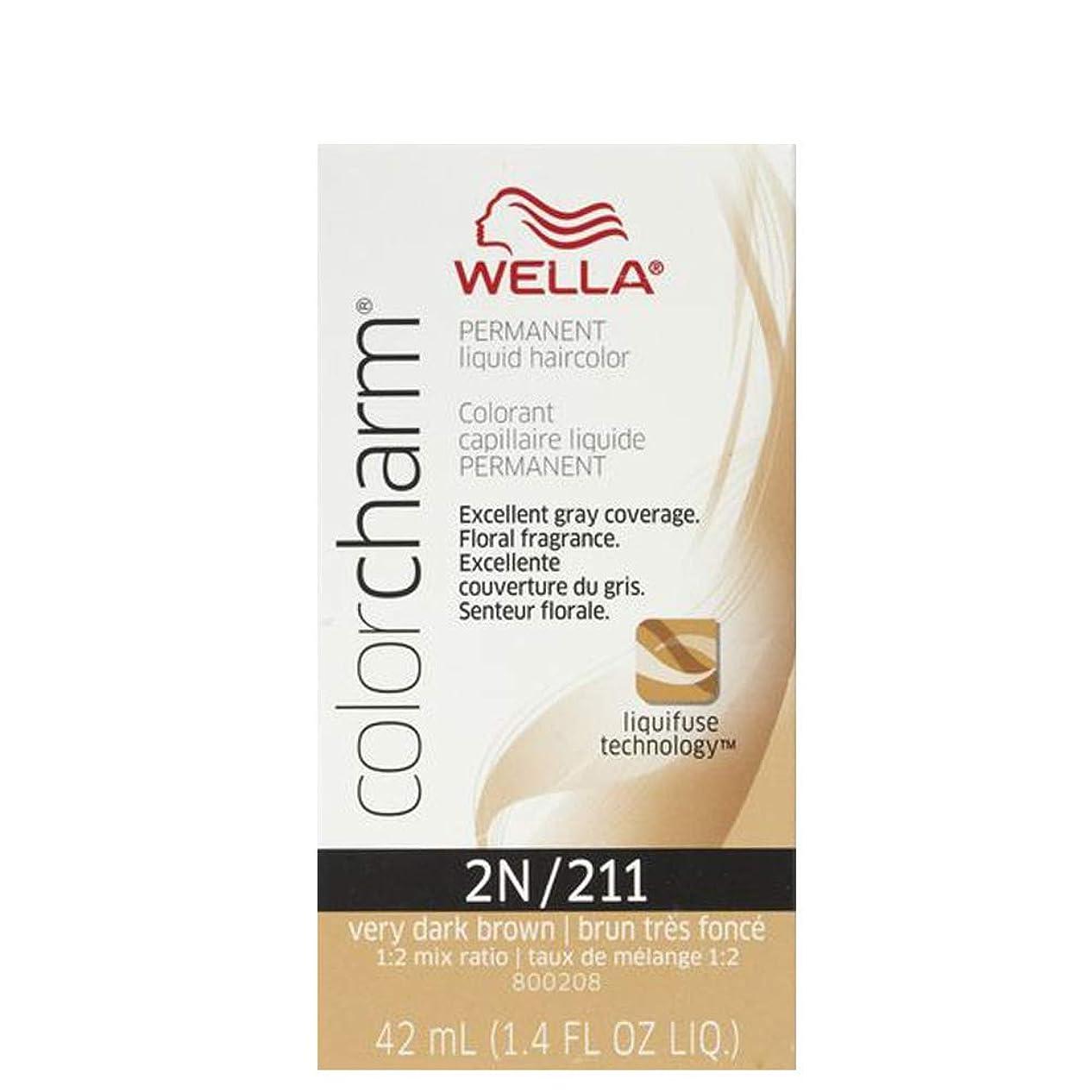 顔料活気づく戦略Wella 非常にダークブラウン色のチャーム液体パーマネントヘアカラー