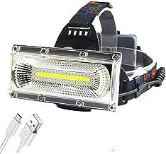 Hoofd Zaklamp 60000lm Cob Led Koplamp USB Oplaadbare Hoofd Lamp Wit&rood & Blauw Licht 3-Mode Koplamp Waterdichte Jacht Ve...