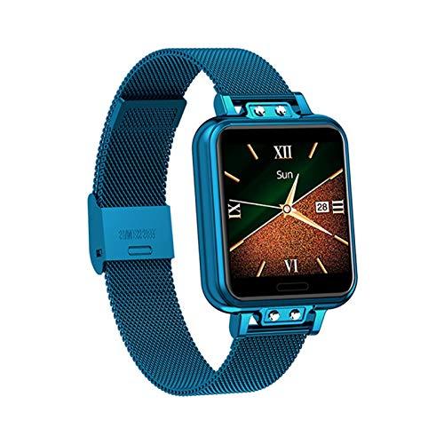 XXY Smart Watch Women Touch Completo Impermeable Fitness Tracker Presión Arterial Deportes Reloj Inteligente Mujeres GTS SmartWatch (Color : Blue)