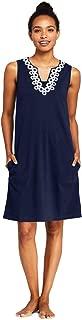 Women's Cotton Jersey Embellished Sleeveless Swim Cover-up Dress