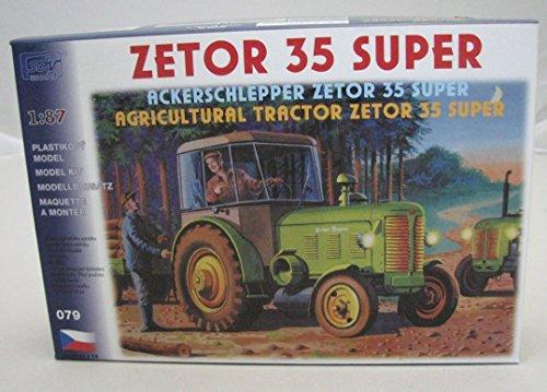 SDV Modellbau Kunststoff Modellbausatz 1:87 H0 Traktor Ackerschlepper Zetor 35 Super Landwirtschaft Fahrzeuge Ostblock DDR