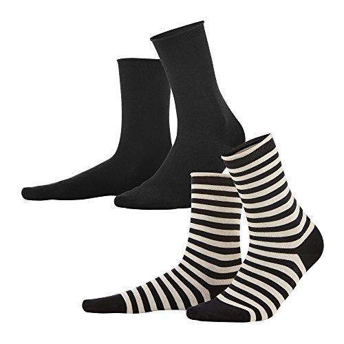 Living Crafts Socken, 2er-Pack 39-42, black/sand
