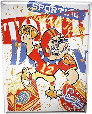 Froy Nostalgic American Football Wand Blechschild Retro Eisen Poster Malerei Plaque Blech Vintage Personalisierte Kunst Kreativität Dekoration Handwerk Für Cafe Bar Garage Hause