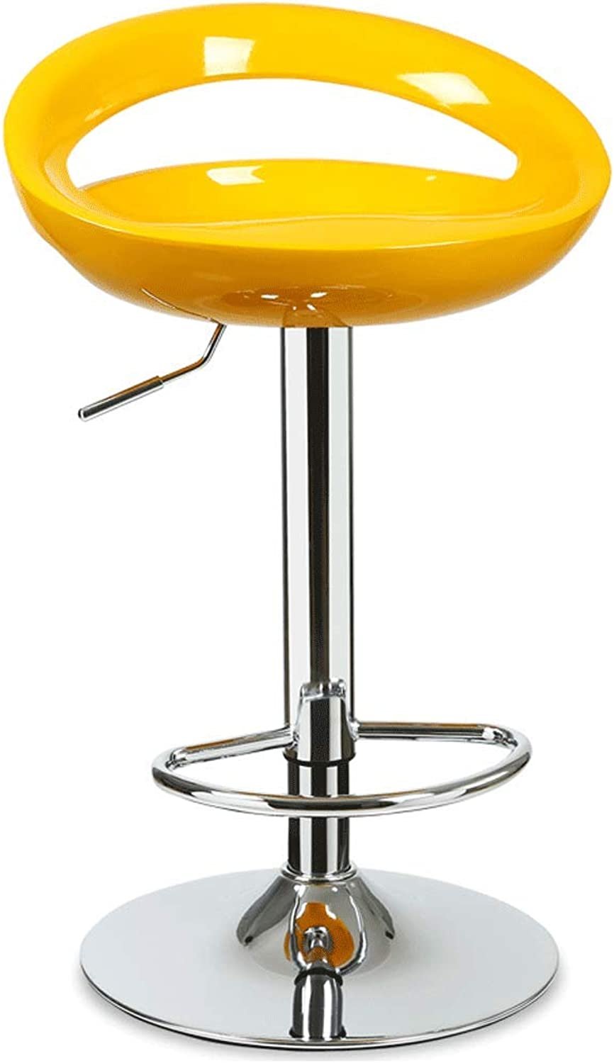 SLH Front Desk Chair Stool Modern Minimalist Bar Stool Bar Chair Lift Chair Bar Backrest Bar Stool (color   Yellow)
