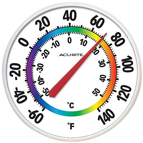 AcuRite Indoor Outdoor Multiple Colors Thermometer 02424SBL