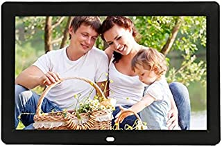 JIANGNIAU Frame 12 inch LED Display Multi-Media Digital Photo Frame with Holder & Music & Movie Player, Support USB/SD/Mic...