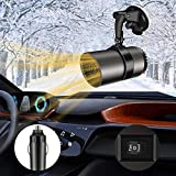 Portable Windshield Car Heater, NaCot Mini Car Defroster Defogger 12V 150W 2 in 1 Heating/Cooling Mini Auto Car Heater with Suction Holder and Cigarette-Lighter