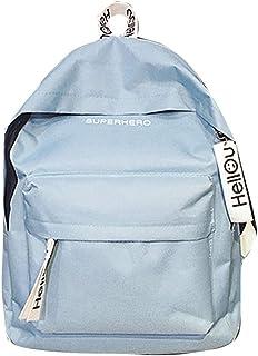 Wultia - Bags for Women Couple Schoolbag Travel Hiking Bag Solid Backpack Collection Luminous Bag Bolsa Feminina Blue