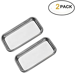 2 Pack Medical Stainless Steel Instrument Tray Lab Instrument Dental Tool by Vinmax