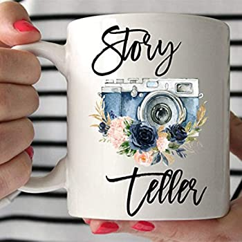 Wedding Photographer Gift Thank You Gift For Photographer Mug Story Teller Coffee Cup Camera Mug Wedding Photography Gifts For Women