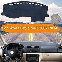OZLXKNC カーダッシュボードカバーライトパッドインストルメントプラットフォームカバーマットカーペットトリムアクセサリーを避ける、Skoda Fabia 2 5j 2007〜2014用
