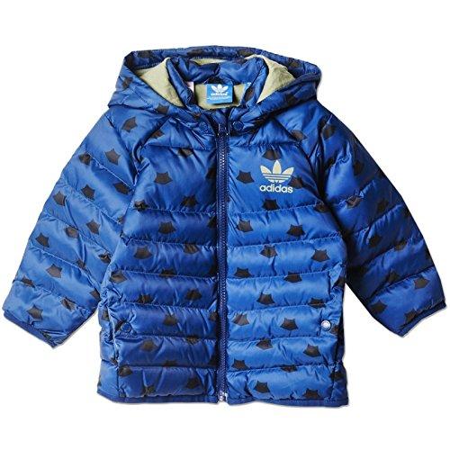 adidas I MF Midsjacket Kinder-Jacke, Blau/Schwarz/Silber, Größe 80