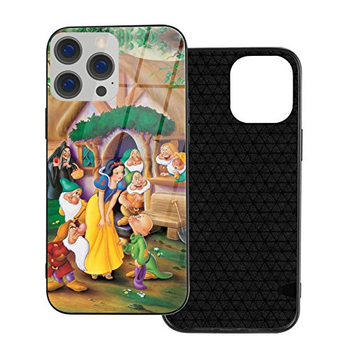 Snow_White 7 American Animated Phone Case, para iPhone 12 Funda TPU Material de Vidrio Soft Bumper Slim Funda Protectora Trasera (iPhone 12 Pro)