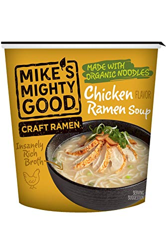 Mike's Mighty Good Craft Ramen, Chicken Ramen Soup, 1.6 Ounce Cups (6 Count)