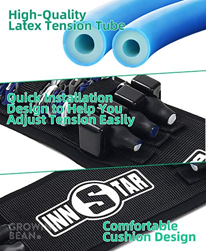 GrowingBean - Bench Press Assistance Resistance Bands, Home Gym, Multiple Training Methods, 152lbs