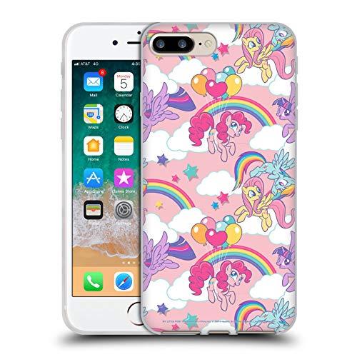 Head Case Designs Licenza Ufficiale My Little Pony Arcobaleno Candy Clash Cover in Morbido Gel Compatibile con Apple iPhone 7 Plus/iPhone 8 Plus