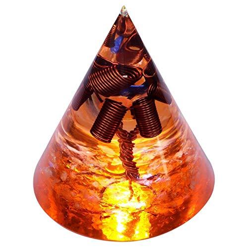 ZTTT Kristallkegel handgemachte Baum des Lebens Wohnkultur (Color : Orange)