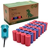 Wise Choice Pet Supply Dog Poop Bags with Dispenser and Leash Clip, 13.5 x 9 Inches, Extra Large, Leak-Proof, Earth Friendly Poop Bags for Dogs, Unscented, Blue, Pink – Pack of 648 (36 Rolls)