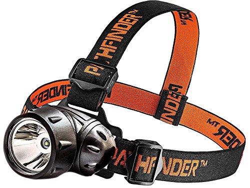 PATHFINDER XP-E Q4 CREE LED Phare Phare - Résistant à l'eau - 3 modes de fonctionnement, chef Safety Lamp, Garage Atelier Jardin de poche, tête de la torche pour le vélo, vélo, escalade, camping, randonnée, pêche, la lecture de nuit, équitation, Dog Walking et autres activités intérieures et extérieures - chef sangle réglable - 135 degrés angle de faisceau réglable - 100 000 heures de vie de LED (dans son emballage) - noir