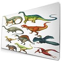KIMDFACE 大型 マウスパッド ジュラ紀の漫画の哺乳類のパターンからのさまざまな異なる古代の動物 個性的 おしゃれ 柔軟 かわいい ゲーミングマウスパッド PC ノートパソコン オフィス用 デスクマット 滑り止め 特大 マウスマット
