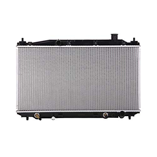 Lynol Cooling System Complete Aluminum Radiator Direct Replacement Compatible With 2003-2005 Honda Civic 4 Door Sedan Hybrid L4 1.3L
