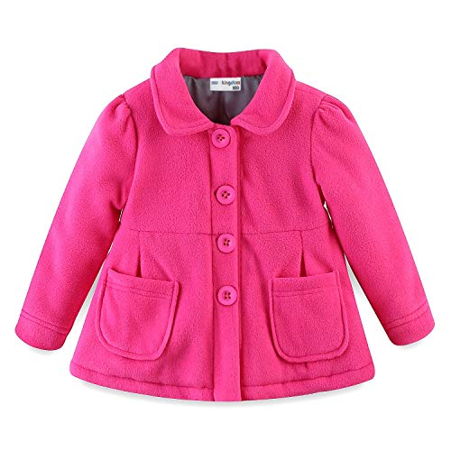 Mud Kingdom Baby Girl Fleece Jacket Coat Hot Pink 9 Months