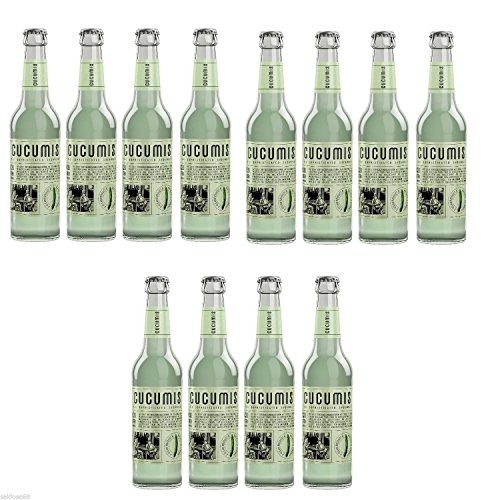 24 Flaschen Cucumis The Sophisticated Cucumber Gurken Limonade a 330ml inc.1.92€ MEHRWEG Pfand
