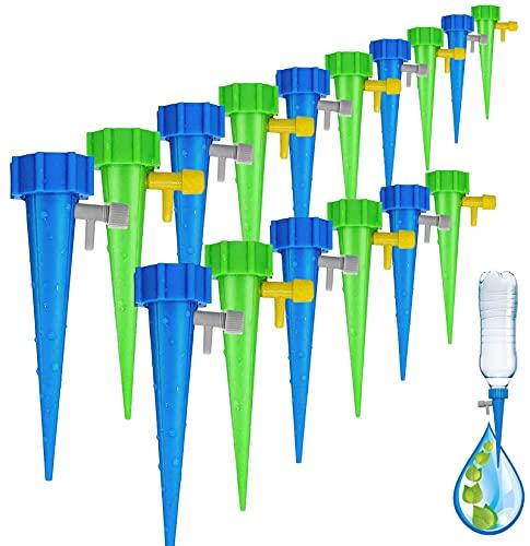 Xinmeng Automatische Bewässerung Pflanzen Blumen Bewässerung 16 Stück Automatisch Bewässerungssystem Einstellbar Bewässerungssystem für Topfpflanzen Garten Zimmerpflanze